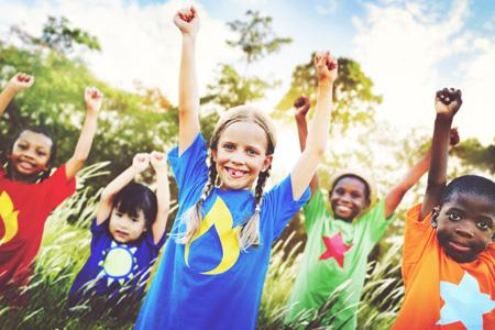 happy children at summer camp